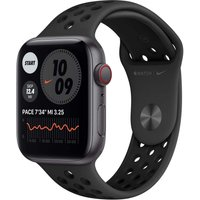Apple Watch SE 44 mm Caja de aluminio en gris espacial - Correa Nike Sport antracita/negro [Wifi + Cellular]