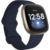 Fitbit Versa 3 40 mm oro con correa de silicona azul [Wifi]