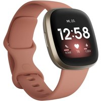 Fitbit Versa 3 40 mm oro con correa de silicona rosa [Wifi]