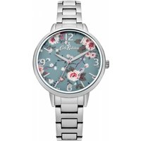 ladies cath kidston trailing rose silver bracelet watch ckl001sm