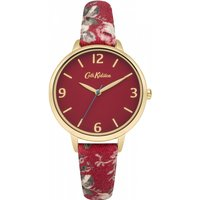 ladies cath kidston garden rose red fabric strap watch ckl002rg
