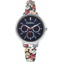 ladies cath kidston mews ditsy navy strap multifunction watch ckl003us
