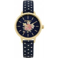 ladies cath kidston richmond rose blue polka dot expander watch ckl009ug