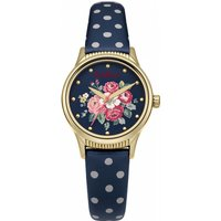 ladies cath kidston forest bunch navy spot strap watch ckl012ug