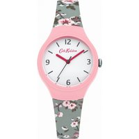 ladies cath kidston trailing rose slate blue silicone strap watch ckl022p