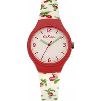 ladies cath kidston strawberries silicone strap watch ckl023rw