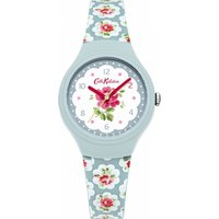 ladies cath kidston provence rose blue silicone strap watch ckl025u
