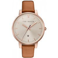 ladies ted baker kate saffiano leather strap watch te10030738