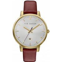 ladies ted baker kate saffiano leather strap watch te10030739