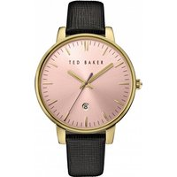 ladies ted baker kate saffiano leather strap watch te10030740