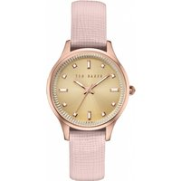 ladies ted baker zoe saffiano leather strap watch te10030743