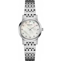 ladies bulova diamond gallery diamond watch 96p175