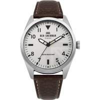 mens ben sherman carnaby military watch wb074br