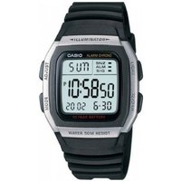 mens casio sports leisure alarm chronograph watch w96h1aves