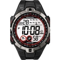 mens timex indiglo marathon alarm chronograph watch t5k423