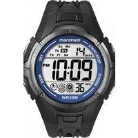 mens timex indiglo marathon alarm chronograph watch t5k359