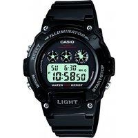 mens casio sport alarm chronograph watch w214hc1avef