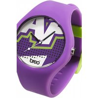unisex breo classic zap purple watch bticlcz2