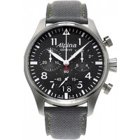 mens alpina startimer pilot chronograph watch al372b4s6