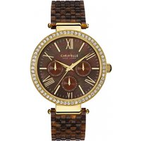 ladies caravelle new york glitz watch 44n102