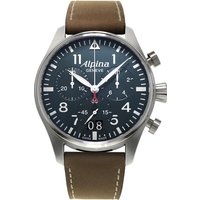 mens alpina startimer pilot chronograph watch al372n4s6