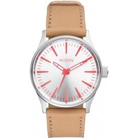 ladies nixon the sentry 38 leather watch a3772089