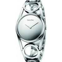 ladies calvin klein round watch k5u2s148
