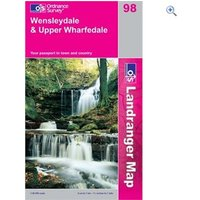 Ordnance Survey Landranger 98 Wensleydale Map Book - Colour: 98