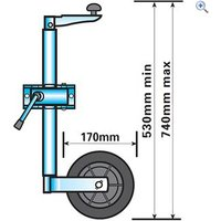 Maypole Jockey Wheel (Lightweight Telescopic)
