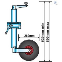 Maypole Jockey Wheel (Medium Duty, Telescopic)