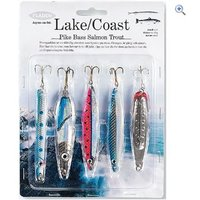 Fladen Lake and Coast Lures, 5 pack