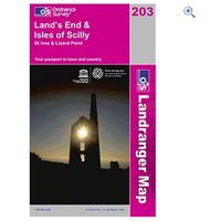 Ordnance Survey Landranger Map 203 Lands End & Isles of Scilly - Colour: 203
