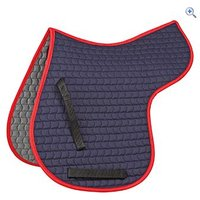 Shires General Purpose Quilted Numnah - Size: S - Colour: NAVY-RED