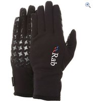 Rab Womens Powerstretch Grip Glove - Size: L - Colour: Black