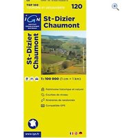 IGN Maps TOP 100 Series: 120 St-Dizier / Chaumont Folded Map