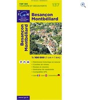 IGN Maps TOP 100 Series: 137 Besancon / Montbeliard Folded Map