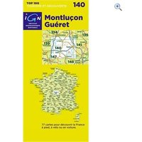IGN Maps TOP 100 Series: 140 Montlucon / Gueret Folded Map