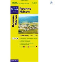 IGN Maps TOP 100 Series: 142 Roanne / Macon Folded Map