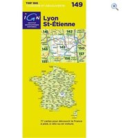 IGN Maps TOP 100 Series: 149 Lyon / St-Etienne Folded Map