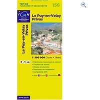 IGN Maps TOP 100 Series: 156 Le Puy-en-Velay / Privas Folded Map