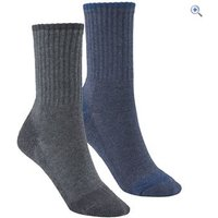 Hi Gear Kids Walking Socks (2 Pair Pack) - Size: XL - Colour: CHAR-DENIM