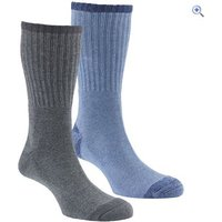 Hi Gear Mens Walking Socks (2 Pair Pack) - Size: XXS - Colour: CHAR-NAVY