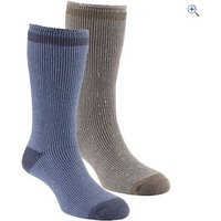 GO Outdoors Mens Heat Trap Socks (2 pair pack) - Size: XS - Colour: NAVY-TAUPE