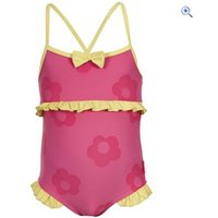 Trespass Splodge Girls Swimsuit - Size: 3-4 - Colour: PETAL PINK
