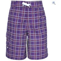 Trespass Corey Boys Surf Shorts - Size: 5-6 - Colour: Grape