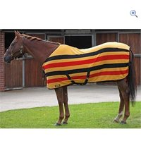 Shires Newmarket Fleece Rug - Size: 6-0 - Colour: GOLD STRIPE