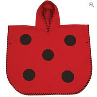 LittleLife Animal Poncho Towel - Ladybird - Colour: Red