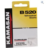 Kamasan B520 Whisker Barb Hook to Nylon, Size 20, pack of 8