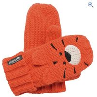 Regatta Rory Animal Kids Mitts - Size: 1-2 - Colour: BURNT SALMON