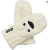 Regatta Rory Animal Kids Mitts - Size: 3-4 - Colour: Polar Bear (Cream)